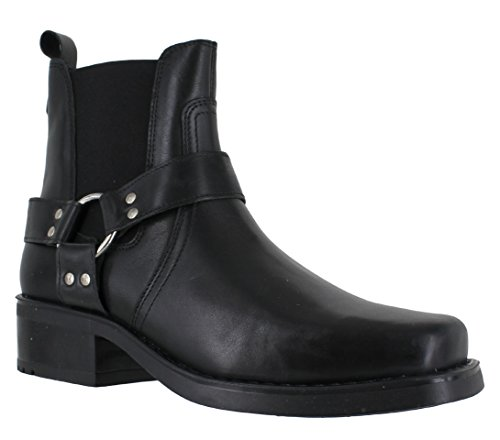 Gringos - Stivali da Motociclista uomo Nero (nero)