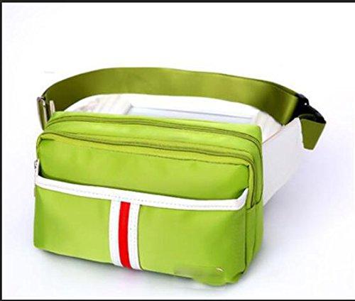 ZYT Bunte Taschen leichte outdoor Freizeit-Paket über die Flut läuft Reiten Handy Tasche Green