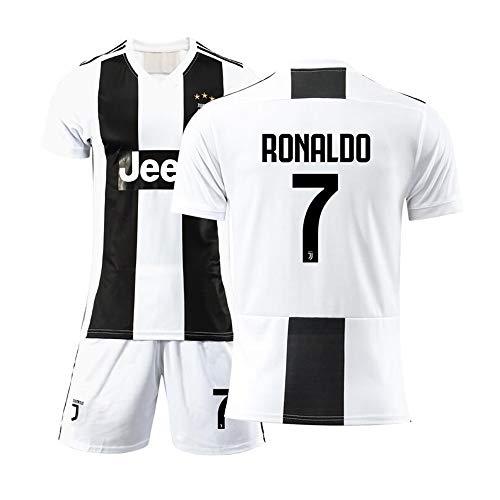 WSAYY T-Shirt Fußball -Cristiano Ronaldo 7 -Fußball-Sportbekleidung, Fußball-Junge T-Shirt Herren Trainingstrikot aus Polyester -