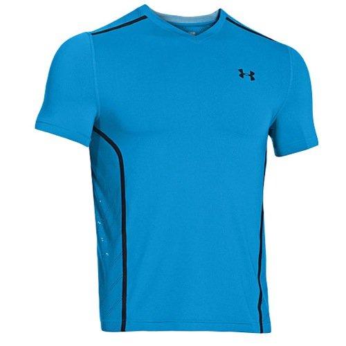 Womens Fitted Unterhemd (Under Armour Herren Shirt Heatgear Armourvent Fitted Short Sleeve T, Elb/Black, XL)