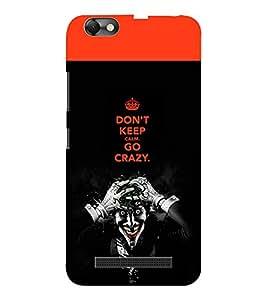 EPICCASE Crazy Joker Mobile Back Case Cover For Lenovo A2020 (Designer Case)