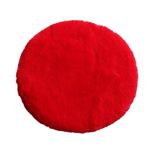 Fenteer Kunstfell Sitzauflage Stuhlkissen Sitz Auflage Matte, Farben Auswählbar - Rot