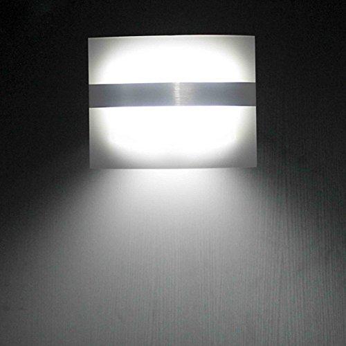 LEADSTAR Acryl Wandleuchte drahtlos Bewegungsmelder Batteriebetriebene Nachtleuchte für Treppenhaus Korridor Garten Garage - Kaltweiß