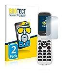 2X BROTECT Matt Bildschirmschutz Schutzfolie für Doro 7060 (Inneres Bildschirm) (matt - entspiegelt, Kratzfest, schmutzabweisend)