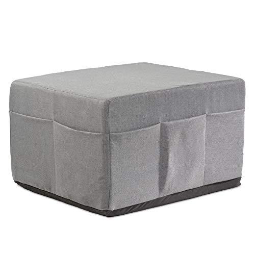 maxVitalis Husse für Klappmatratzen, Mit Seitentaschen, Waschbar, Schonbezug für Ihre Gästematratze, Die Housse Macht Ihre Faltmatratze zum modernen Sitzhocker, 75x45x65 cm, Grau.