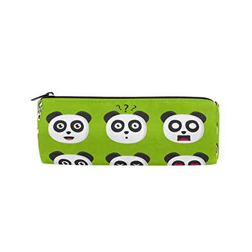n mit niedlichem Cartoon-Motiv Panda, Emoji, Schule, Schreibwaren, Stiftebox, Reißverschluss ()