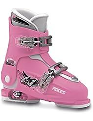 Roces para niños Botas de Idea Up dimensionable, color rosa - Deep Pink-White, tamaño 30/35