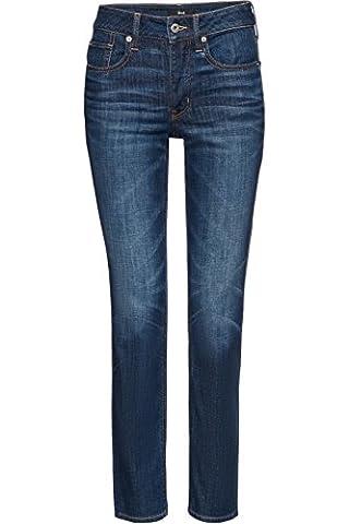 FIND Women's Boyfriend Authentic Wash Jeans, Blue (Mid Indigo),