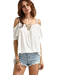 weiße off shoulder bluse