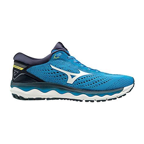 Mizuno Wave Sky 3, Zapatillas de Running por Hombre, Azul (Campanula/White/BlazingYellow 01), 44 EU