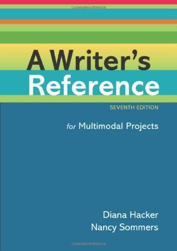 A Writer's Reference for Multimodal Projects 7th edition by Hacker, Diana, Sommers, Nancy (2012) Spiral-bound par Diana, Sommers, Nancy Hacker