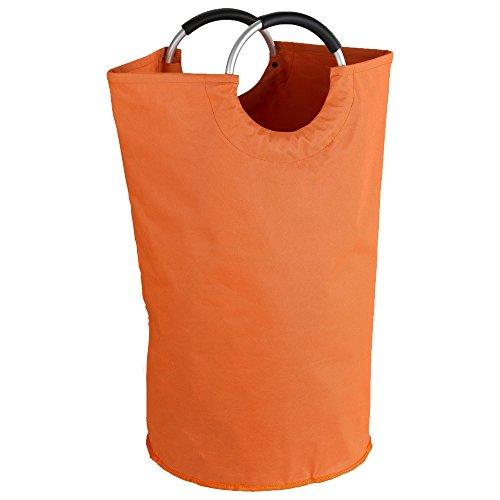 Wenko 3440801100- sacchetto portabiancheria jumbo, in plastica, 57x 40x 3cm arancione