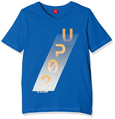 s.Oliver Jungen T-Shirt 61.801.32.6997, Blau (Blue 5534), 164 reg