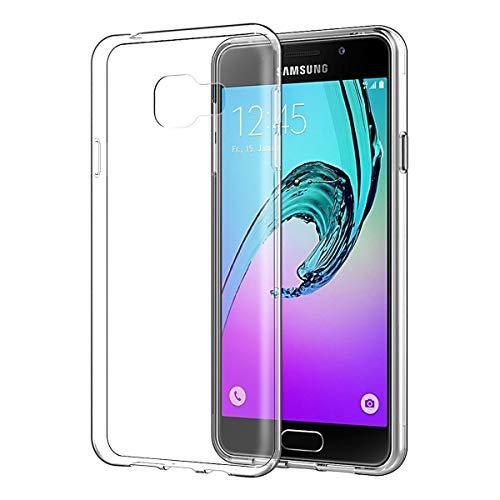 NEW'C Coque pour Samsung Galaxy A3 2016, [ Ultra Transparente Silicone en Gel TPU Souple ] Coque de Protection avec Absorption de Choc et Anti-Scratch