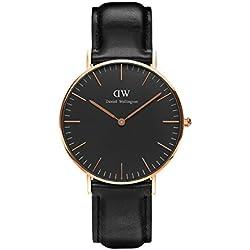 Daniel Wellington Mixte Analogique Classique Quartz Montre avec Bracelet en Cuir DW00100139