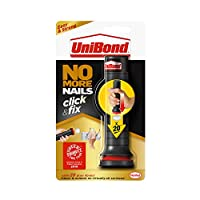 UniBond No More Nails Click&Fix, Easy-to-Use Instant Grab Adhesive, Ready to Use Mounting adhesive, Pre-Dosed Strong Glue for Light DIY, 1 x 30g Doses