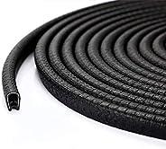 Morkka Car Door Edge Guards 16.4 Ft(5M) U Shape Edge Trim Rubber Strip Seal Protector (No Glue Required) Car P