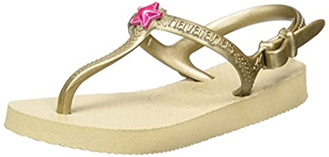Havaianas Kids Freedom, Girl's Flip Flops, Gold, 13 Child UK