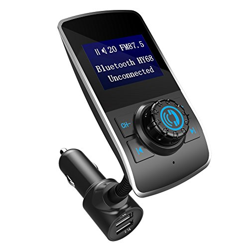 Qiilu HY-68 FM Übermittler Bluetooth freihändiger drahtloser Auto Installationssatz MP3 Player 3.1A USB Aufladeeinheit