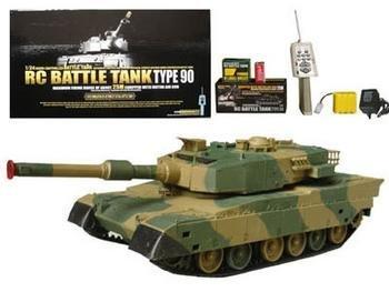 Lanlan RC Battle Tank Leopard Tank Shoots BB's Radio Remote Control 1:24 Review