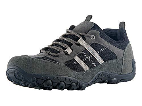 Knixmax Wanderschuhe Atmungsaktiv Trekking Schuhe Herren Damen Sports Outdoor Anti-Rutsch-Sohle Hiking Boots Man Woman Trekking-& Wanderhalbschuhe Sneaker EU 44-(UK 10) Dunkel Grau
