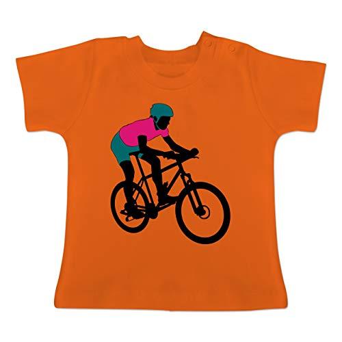 Sport Baby - Mountainbike MTB Geländefahrrad - 1-3 Monate - Orange - BZ02 - Baby T-Shirt Kurzarm -