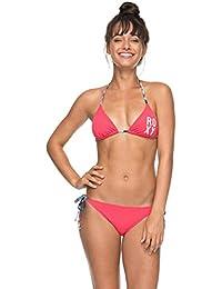 Roxy RO ES Tt SC J mlj0Tiki Tri Women's Bikini, women's, RO ES TT SC J MLJ0, Rouge Red - Solid, FR :