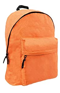 FACTORYCR- Mochila Orange Omega 32x42x16 cms Must Escolar Juvenil Naranja, Color (580074)