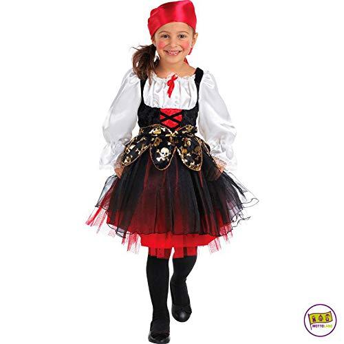 See Piraten Kostüm Zur Kapitän - Mottoland Kinder Kostüm Piratin Seeräuber Mädchen Fasching Karneval Verkleiden: Größe: 140