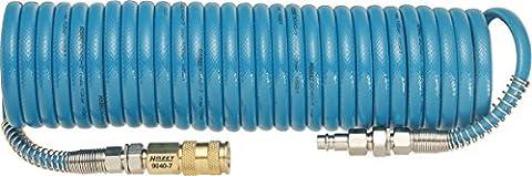 HAZET Spiralschlauch (Länge 7,62 m, Innendurchmesser 6,35 mm, Arbeitsdruck 10 bar, aus Polyurethan) (Girevole Tubo Connettore)