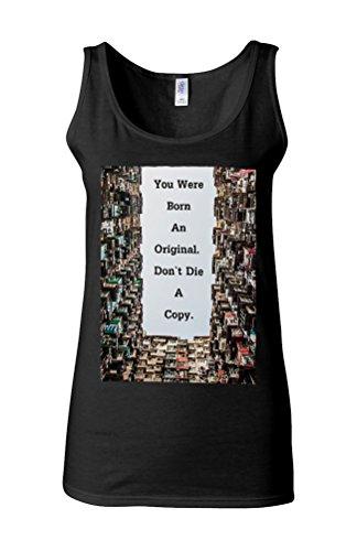 Born Original Do Not Die Copy Cool Novelty White Femme Women Tricot de Corps Tank Top Vest *Noir