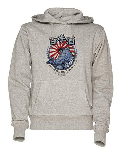 t Fighter Unisex Grau Sweatshirt Kapuzenpullover Herren Damen Größe M | Unisex Sweatshirt Hoodie for Men and Women Size M ()