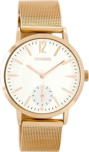 Oozoo Damen Chronograph Quarz Uhr mit Edelstahl Armband C8618