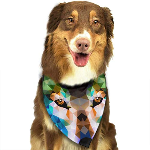 Sdltkhy Low Poly Wolf Fashion Dog Bandana Haustierzubehör Easy Wash Scarf -