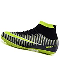 new styles 6c44a efa3e LSGEGO Men s Football Boots Adult High Top Soccer Shoes Professional Spike  Training Shoes Outdoor Sneakers Teenagers