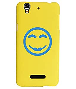 KolorEdge Back Cover For Micromax Yu Yureka - Yellow (1634-Ke15098MmxYurekaYellow3D)
