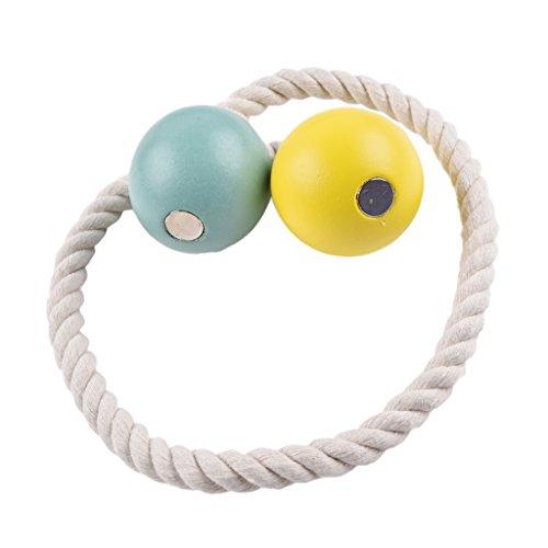 gnetische Ball Seil Dekorative Vorhang Vorhänge Tieback Vorhang - Gelb + Blau ()