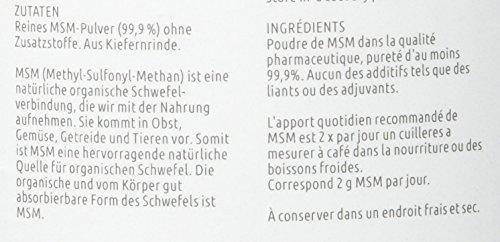 Vita Natura MSM Pulver, Methylsulfonylmethan, aus den USA, 1er Pack (1 x 1 kg)