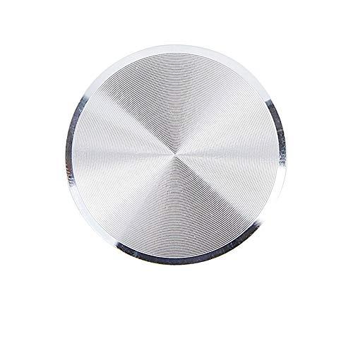 Big-Mountain  Metallplatten Aufkleber Magnetische Telefon Auto Halter | CD Muster Dünne Aluminiumlegierung Platte | Aufkleber Ersetzen Sie Metallplättchen für Magnet Handy Ständer (Silber)