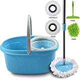 COZYLIFE Magic Spin Mop with Bucket Set with Easy Wheels Floor Cleaning, 2