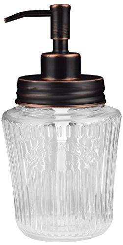 Vintage tarro dispensador de jabón Mason | negro | acero inoxidable | Kilner | 500ml | cristal | ecojars