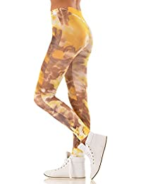 Hotlook Leggings Sahara Batiklook braun gelb weiß Sand Wüste Afrika bedruckt Hotlook