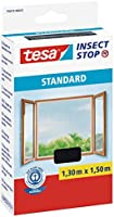 tesa® insect stop standard fly screen with Velcro tape for windows, anthracite, 1.5 x 1.8 m., 55672-00021-03