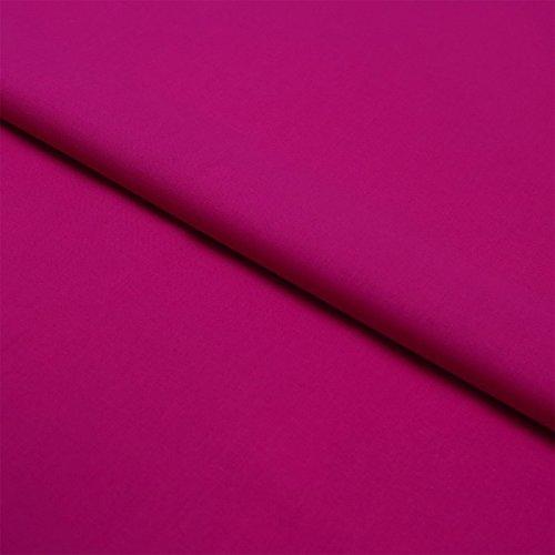 Stoff Meterware, Uni, einfarbig, Baumwolle Linon, Bekleidungsstoff, Dekostoff, Nähen, Schneidern | Pink