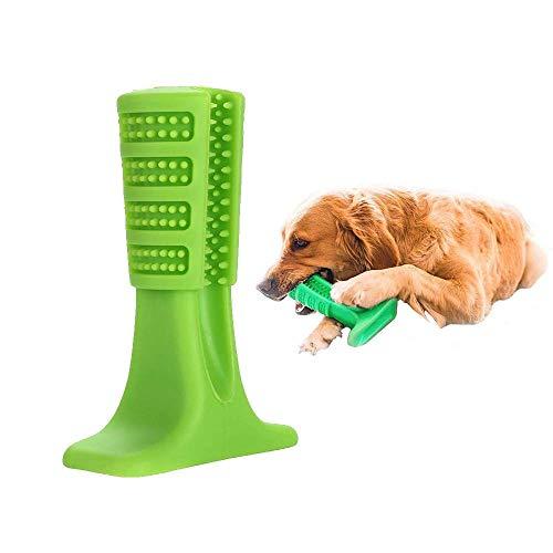 Bristly Hundezahn, Pinsel Haus Hund Kauen Zähne Reinigung Zahnbürste, Soft-Stick-Hund Kauen Spielzeug Für Kleine Hunde, Katzen, Die Meisten Haustiere,Green,L
