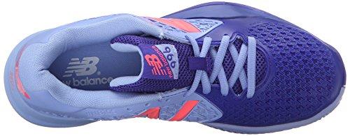 New Balance Women's 996v2 Tennis Shoe, Spectral Blue/Pink, 10 B US Spectral Blue/Pink