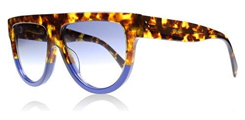 Celine 41026 Light Tortoise / Blue / Grey Gradient Kunststoffgestell Sonnenbrillen