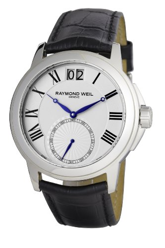 raymond-weil-mens-stainless-steel-black-leather-strap-watch-9578-stc-00300