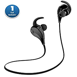 ACID EYE QY7 in-Ear bluetooth 4.1 Stereo Earphone with mic || wireless Earphone || Gym Noise Cancellation || Earphones Headphone headset with Fully Loaded Accessories (Black)