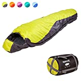 KeenFlex Mummy Sleeping Bag 3-4 Season Extra Warm & Lightweight Compact Waterproof Advanced